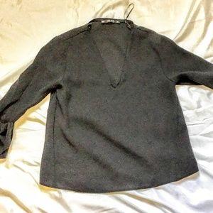 Zara   Black Long Sleeve Top